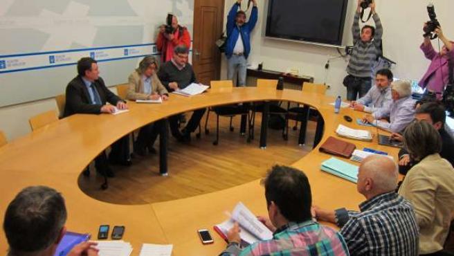 Reunión con el sector del cerco y la conselleira Rosa Quintana