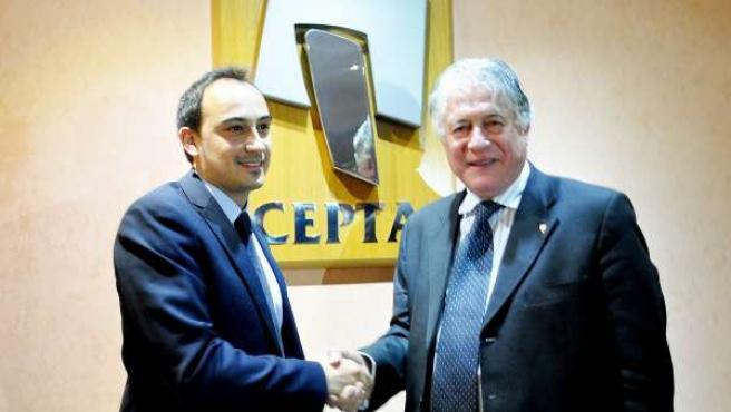 El pte. De Cepta J.A.Belmonte y el dtor.Comercial de Equifax A.Pérez