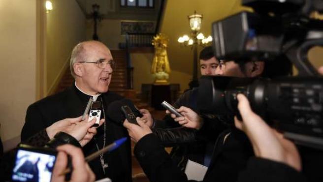 El arzobispo de Valencia Monseñor Carlos Osoro, tras su nombramiento