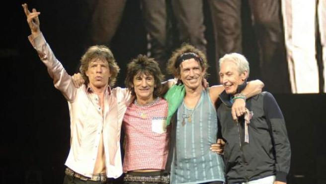 Una imagen de los Rolling Stones en el documental 'Shine a light'.