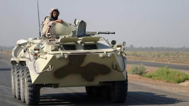 Imagen de un carro de combate de las Fuerzas Armadas de Ucrania.