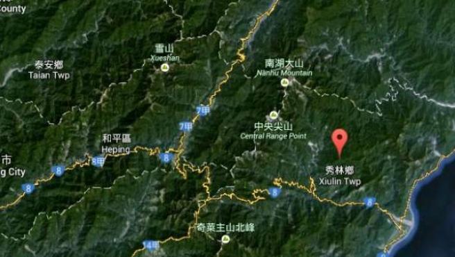 Situación geográfica de la aldea Chaotun (Taiwán)