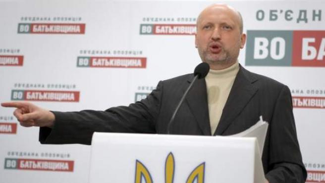 Alexander Turchínov, presidente en funciones de Ucrania.