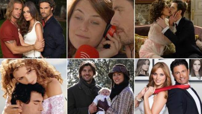 Imágenes de las telenovelas 'La tempestad', 'Ciega a citas', 'Amar es para siempre', 'Destilando amor', 'El secreto de Puente Viejo' y 'Porque el amor manda' (de izda. a dcha.)