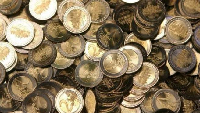 Diverses monedes d'euro.