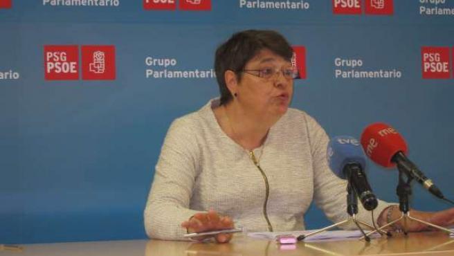 La diputada del PSdeG Marisol Soneira en rueda de prensa