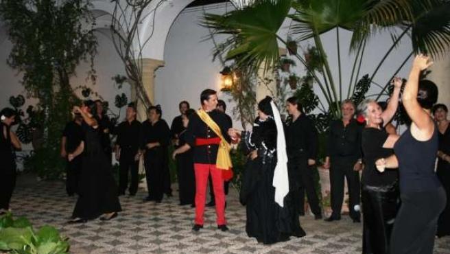 Uno de los ensayos del musical en el Palacio de Viana