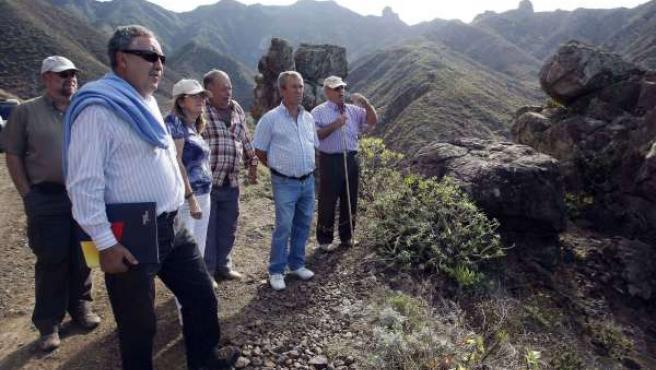 Mora, en la visita a Anaga