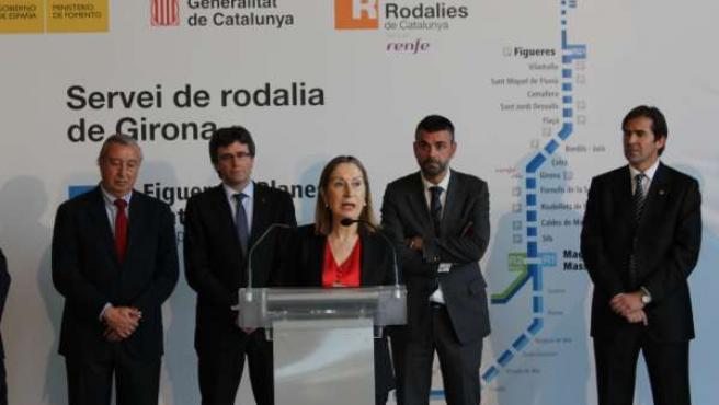 La ministra de Fomento, Ana Pastor, en Girona