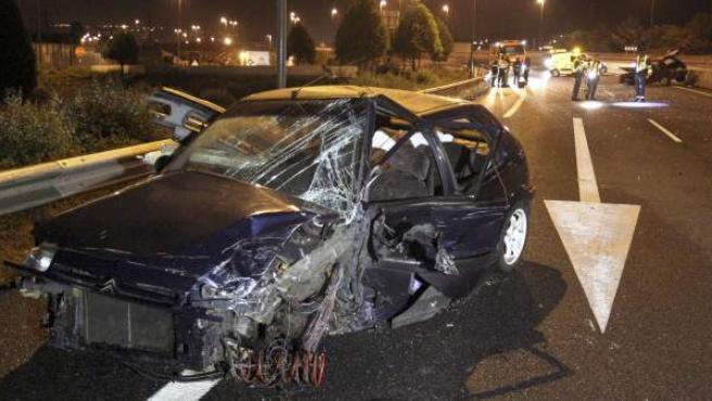 Imagen de archivo de un accidente de carretera.