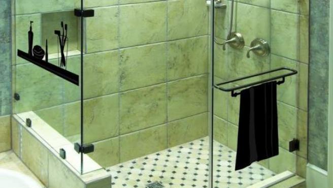 Una moderna mampara de ducha.