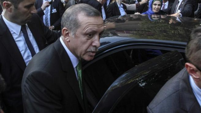 El primer ministro turco Recep Tayyip Erdogan durante un acto en una imagen de archivo.