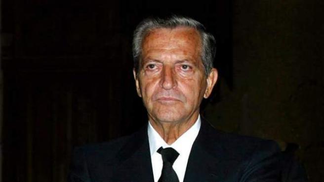 Adolfo Suárez, en una imagen tomada en el funeral de su esposa en 2012.