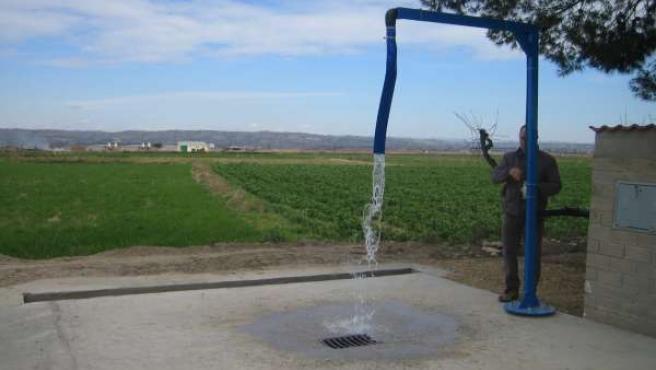 Nuevo punto de llenado de agua para sulfatadoras en Fuentes