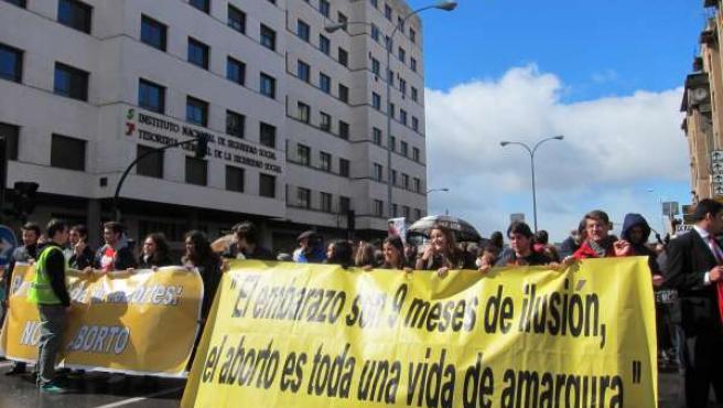 Manifestación contra el aborto.
