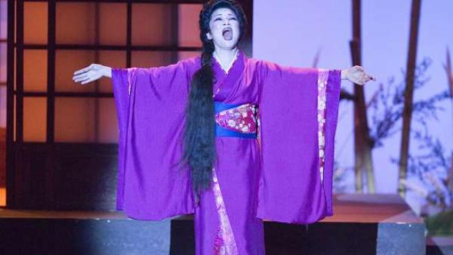 Una escena de la ópera ÛMadame Butterfly'