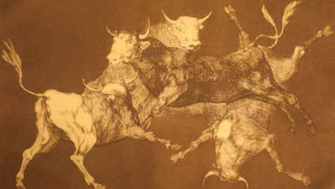 Uno de los grabados de la colección Juan Barco.