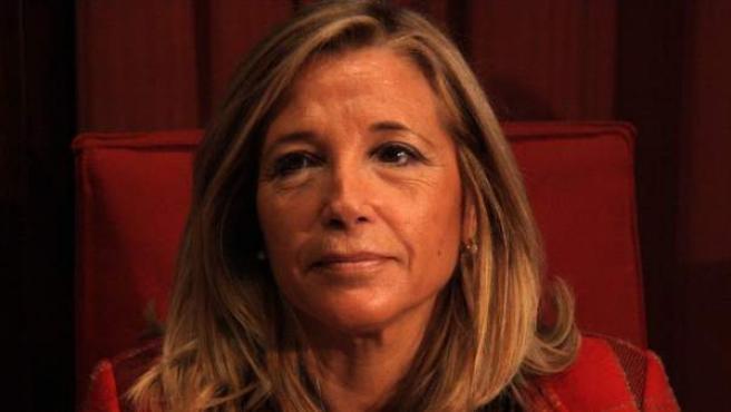 La vicepresidenta del Govern, Joana Ortega, en su intervención en el Parlament de Cataluña.