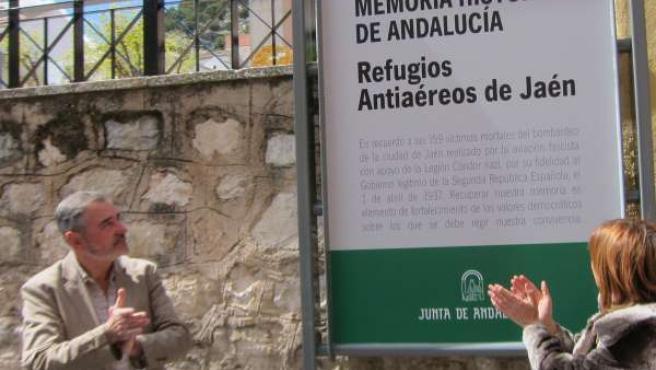 Acto de señalización del Refugio Antiaéreo de Jaén como Lugar de Memoria
