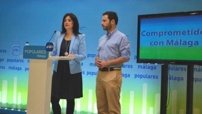 Del Cid y Carmona, en rueda de prensa.