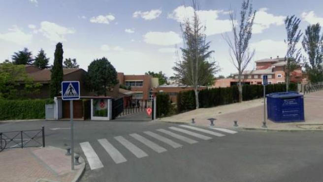 Vista del colegio Aldovea, situado en La Moraleja (Alcobendas, Madrid), a través de Street View.