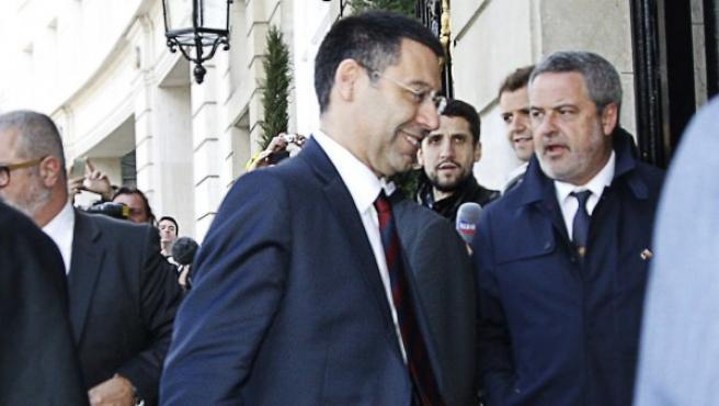 El presidente del FC Barcelona, Josep María Bartomeu.