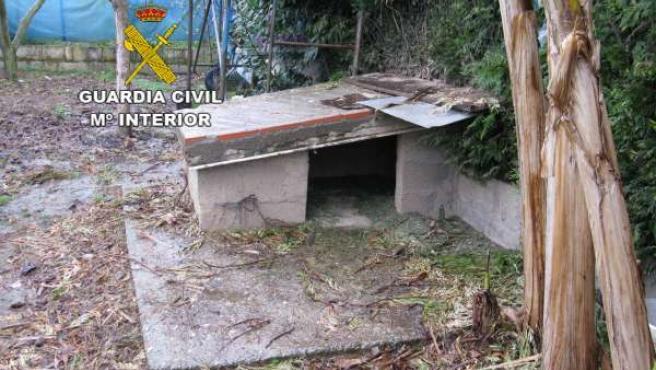 Caseta del hombre detenido en Ponferrada por maltrato animal