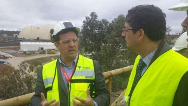 El vicepresidente de la Junta, Diego Valderas, visita Matsa.