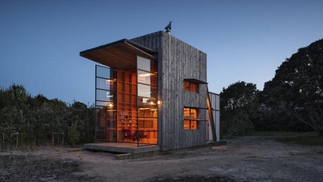 Cabaña de montaña en Nueva Zelanda diseñada por el arquitecto Crosson Clarke Carnachan