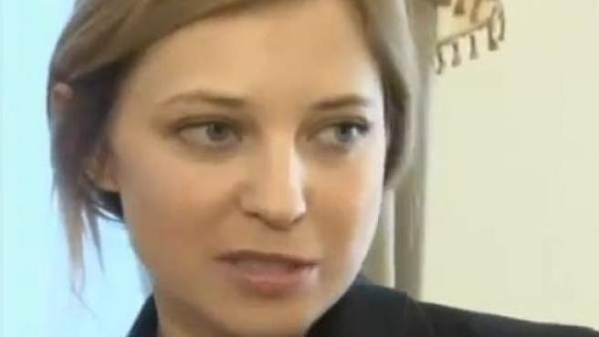Natalia Poklonskaya, la fiscal general de Crimea, que se ha convertido en un fenómeno de Internet.