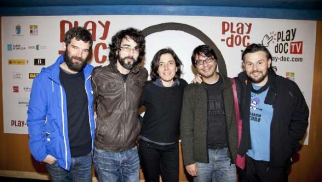 Ángel Santos, Eloy Enciso, Marta Andreu, Marcos Nine y Otto Roca en el Play-Doc
