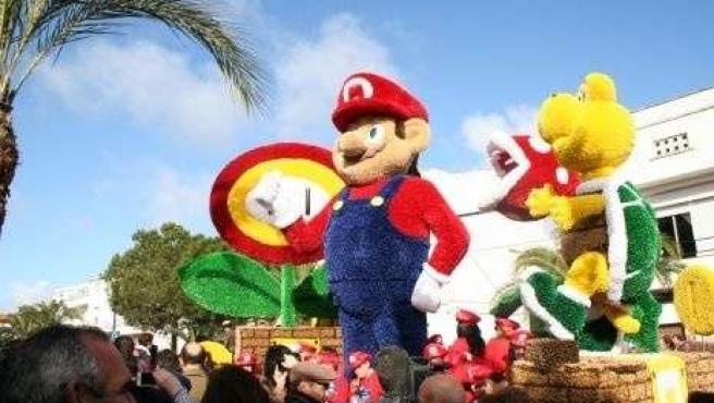 Carroza titulada 'Mario Bros'