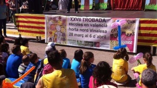 Trobada d'Escoles en Valencià en Vinalesa