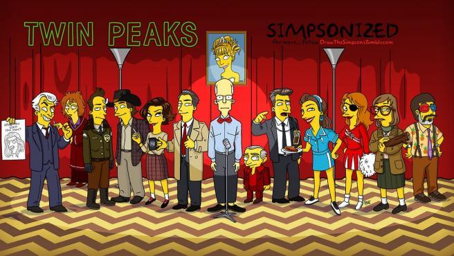 Galería: Los personajes de 'Twin Peaks', 'simpsonizados'