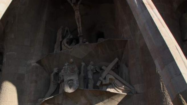 La fachada de la Pasión de la Sagrada Família, obra del escultor Josep Maria Subirachs.