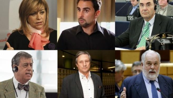 Elena Valenciano, Falciani, Vidal-Quadras, Francisco Sosa, Willy Meyer y Arias Cañete, entre los candidatos a las elecciones europeas.