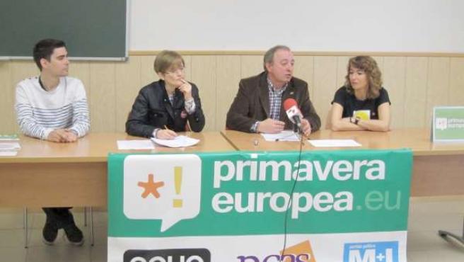 Presentación de la coalición Primavera Europea