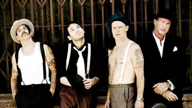 Los integrantes de la banda californiana Red Hot Chili Peppers.