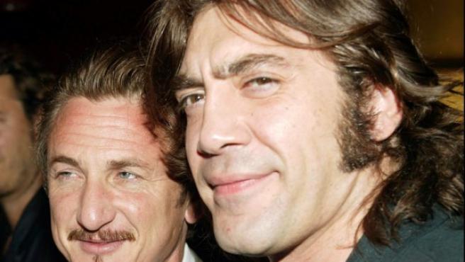 Sean Penn y Javier Bardem en 2005.