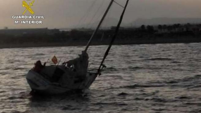 Imagen del barco rescatado