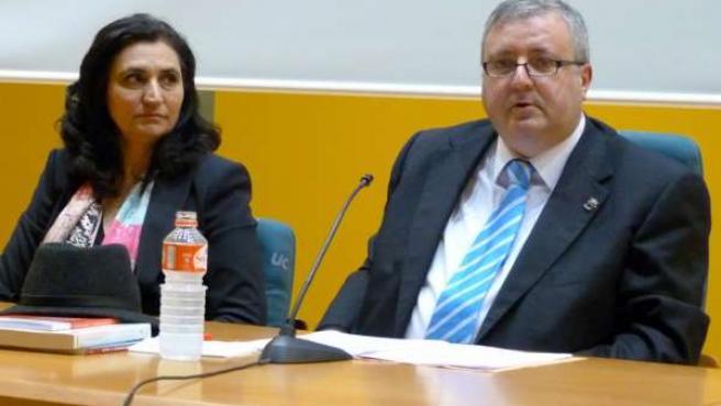 El magistrado Marcelino Sexmero en la Universidad de Cantabria