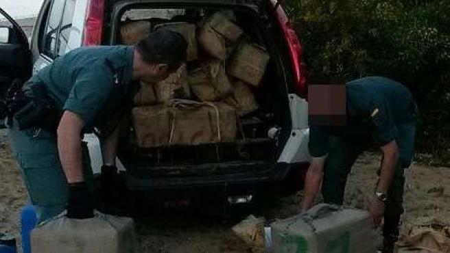 Operación de la Guardia Civil en Mazagón contra el narcotráfico