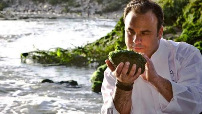 """Las algas, un básico de la oferta de Ángel León, el """"chef del mar""""."""