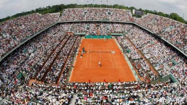 Imagen de la pista Philippe Chatrier, del estadio Roland Garros.