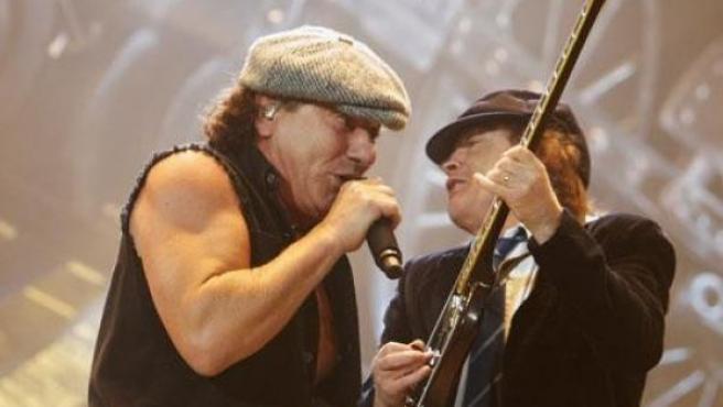 AC/DC, durante la gira del disco 'Black Ice'.
