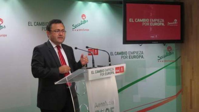 Miguel Angel Heredia en rueda de prensa PSOE-A