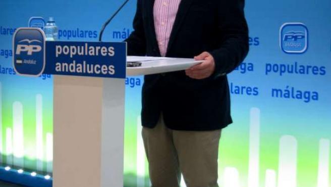 El presidente del PP de Málaga y portavoz del PP-A, Elías Bendodo