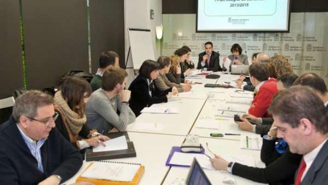 Reunión de la comisión interdepartamental.