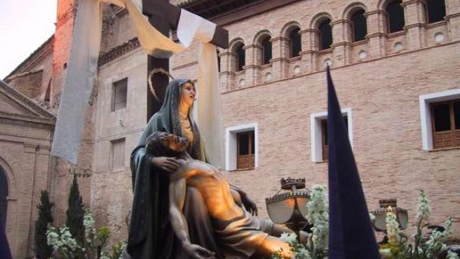 Uno de los pasos de la Semana Santa de Borja