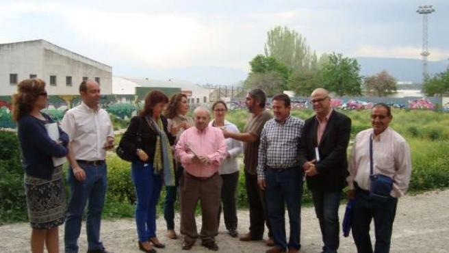Reunión de representantes del PSOE de Jaén con la AAVV Passo